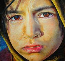 نقاشی دختربچه- پاستل توسط علیرضا زارع