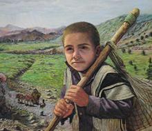 پسر کوهستان (نقاشی پاستل) توسط آقای علیرضا زارع