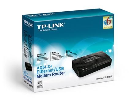 مودم - روتر ADSL2+ Ethernet/USB Modem Router TD-8817