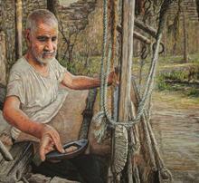 نقاشی عباباف - پاستل توسط علیرضا زارع
