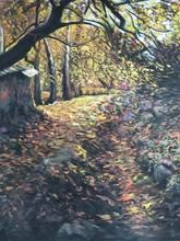 کوچه باغ 3 (نقاشی رنگ روغن روی مخمل) توسط علیرضا زارع