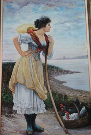 انتظار دریا (نقاشی رنگ روغن روی بوم) توسط علیرضا زارع