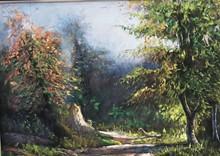 کوچه باغ 4 (نقاشی رنگ روغن روی مخمل) توسط علیرضا زارع