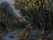 کوچه باغ 5 (نقاشی رنگ روغن روی مخمل) توسط علیرضا زارع