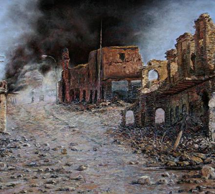 استقامت (نقاشی پاستل) توسط آقای علیرضا زارع